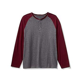 أساسيات الرجال & apos&ق كبيرة وطويلة الأكمام الطويلة البيسبول قميص هنلي قميص, -...