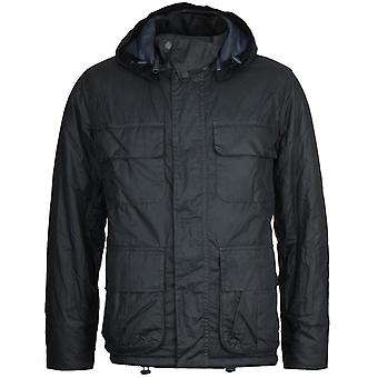 Barbour X Norse Projects Ursula Waxed Navy Jacket