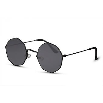 Sunglasses Unisex rectangular full framed black