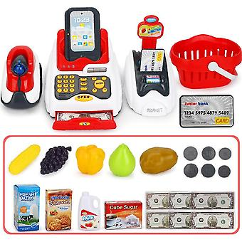 Learning Educational Cashier Kids Pretend Play Counter Cash Register Toy-