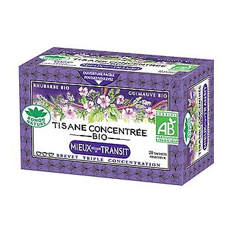Organic concentrated herbal teas Better Regulate Transit 20 infusion bags