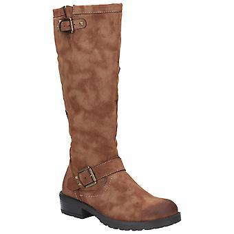 Divaz mujer courtney zip up bota negra 27167-45653