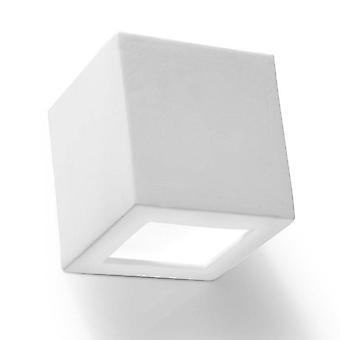 1 Light Ceramic Flush Wall Light White, E27