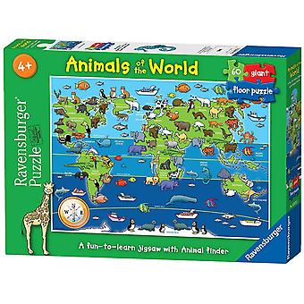 Ravensburger Animals of the World Giant Floor 60pc Puzzle