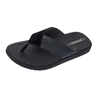 Cartago Valencia Mens Beach Flip Flops / Sandals - Black