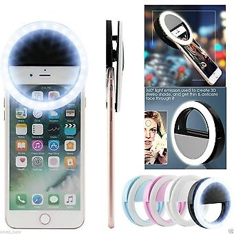 Mobile Phone Clip Selfie Led Auto Flash For Cell Phone Smartphone Round Portable Selfie Mini Camera Flashlight