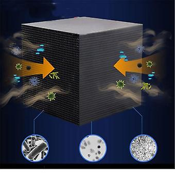 Eco-aquarium waterzuiveraar kubus met 10x10cm en ultra geactiveerde koolstof