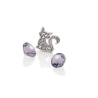 Diamantes calientes Anais Anais plata de ley gato encanto AC067