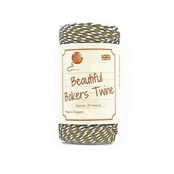 20m Olive Green Natural Bakers Twine for Crafts & Gift Wrapping