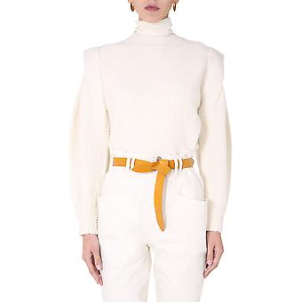 Isabel Marant Pu114820a038i23ec Women's White Wool Sweater