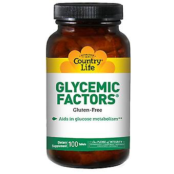 Country Life Glycemic Factors NF, 100 Tabs