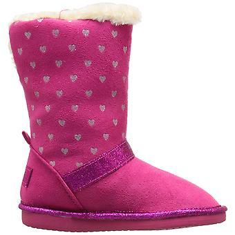 Kids OshKosh B'Gosh Girls Iris-G Suede Mid-Calf Pull On Wedge Boots