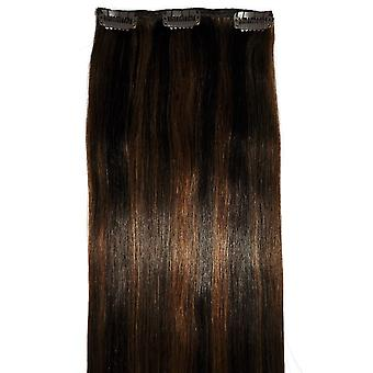 #2/6 Caramel Mocha Blend - Clip-in Hair Piece