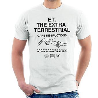 E.t. Las instrucciones de cuidado extraterrestres Hombres's Camiseta