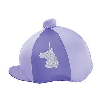 Little Rider Unicorn Glitter Hat Cover - Purple/lilac