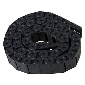 Semi Enclosed Plastic Towline Cable Chain Drag Carrier Wire Black 15 x 30mm R28