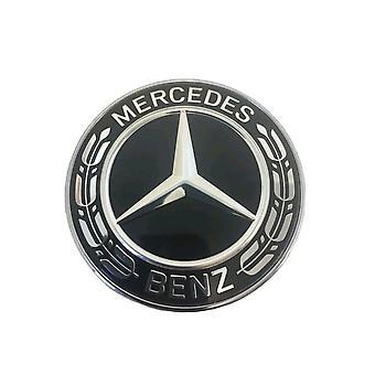Mercedes Benz Steering Wheel Badge Black Emblem Sticker Decal Merc 52mm AMG