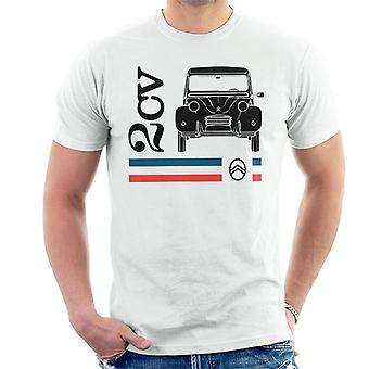 Citro?n Black 2CV Racing Stripes Men's T-Shirt