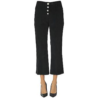 White Sand Ezgl429015 Women's Black Cotton Pants
