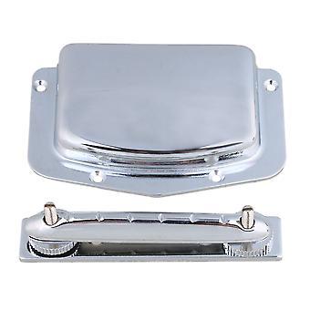Silver Legering Justerbar Archtop 6 String elgitarr Bridge