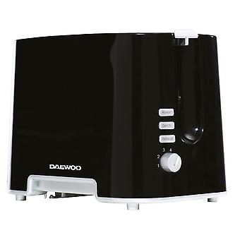 Daewoo 2 Slice Black Plastic Toaster