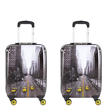 Flight knight 8 wheel travel bag set & carry ons cabin suitcases & hold luggage ryanair ba tui approved