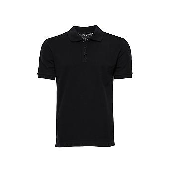 Black polo collar t-shirt