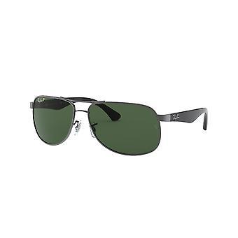 راي بان RB3502 004/58 غونميتال / النظارات الشمسية الخضراء الكريستال المستقطبة