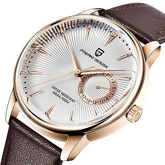 Gold & brown men's pagani dress watch