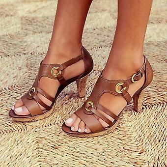 Summer Sandals And Open Toe Gladiator Shoes Women Ring Fashion Shoes