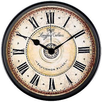 Wall Clock, SAYTAY Large Digital Electronic Silent Black Punctual Quartz Clock