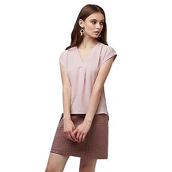 Louche Womens Moroni V-Neck Sleeveless Top Pink