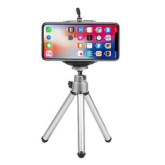 Mini-flexible-tripod With Phone Clip-stand For Mobile Phone