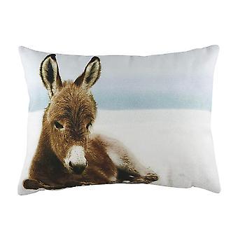 Evans Lichfield Winter Donkey Cushion Cover