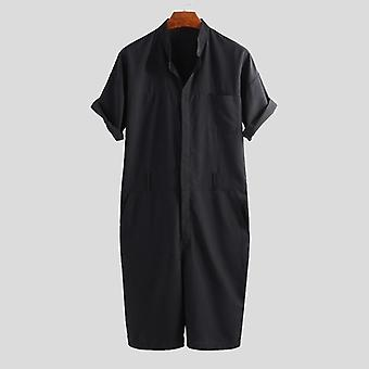 Punk Style, Short-sleeve Rompers, Cargo Loose, Jumpsuit Pants