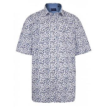 Carabou Floral Print Short Sleeve Shirt