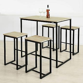Barbord och 4 pallar, Home Kitchen Breakfast Bar Set / möbler Dining Set