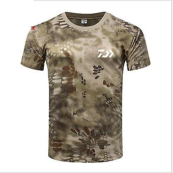 Men Fishing T Shirt Summer, Short Sleeve Camouflage, Clothing Outdoor Sport