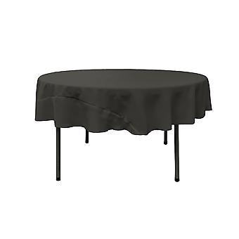 La Leinen Polyester Poplin Tischdecke 72-Zoll rund, schwarz