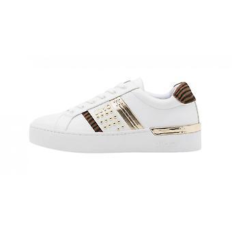 Shoes Woman Liu-jo Sneaker Mod. Silvia In Ecopelle Bianco/ Animalier Ds21lj13