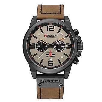 Bracelet en cuir Quartz Montres homme, Casual, Montres-bracelets homme Horloge