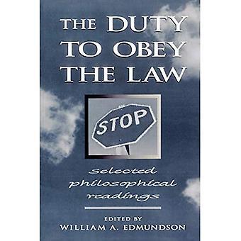 Pligten til at adlyde loven: Udvalgte filosofiske oplæsninger