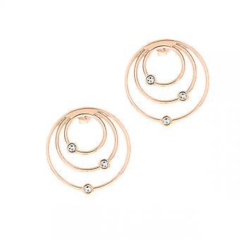 Boucles d'oreilles Les Interchangeables A59169   - Creoles Orbite Dor� Rose