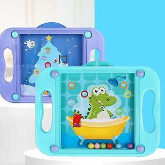 3d Kids Educational Puzzle Montessori Maze Balance Games (purple Or Blue)