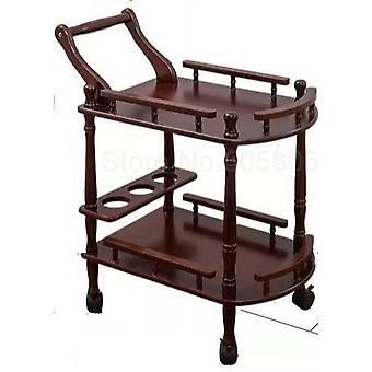 Wooden Small Bubble Equipment Shelf High-end Beauty Salon Hotel Trolley & Hair