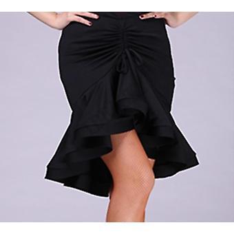 Ballroom χορευτής χορεύοντας θηλυκό ακανόνιστο λατινικό φόρεμα φούστα (σετ 2)
