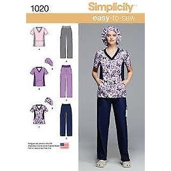 תבנית תפירה פשטות 1020 מפספס לשפשף את מידות כובע מכנסיים עליונים 10-18