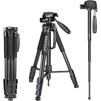 HanFei Tragbarer 177cm Aluminium Legierung Kamera Stativ Einbeinstativ mit 3-Wege-Drehgelenk Pan Head
