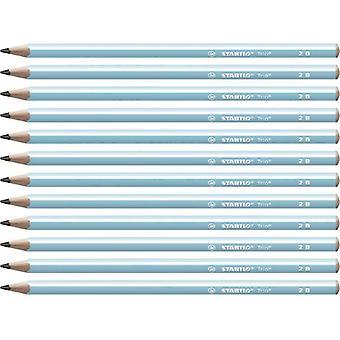Pencils Stabilo Trio 2B Graphite Blue (12 pcs) (Refurbished A)