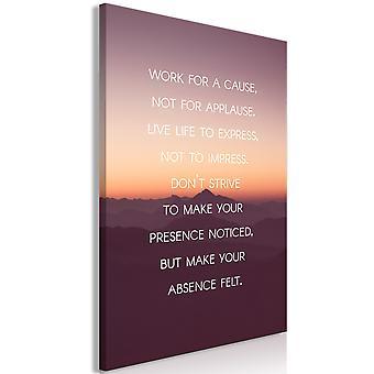 Schilderij - Make Your Absence Felt (1 Part) Vertical